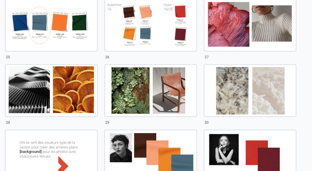 research of moods and aesthetic pictures by Studio TB for Jean-Paul Fortin Fall collection