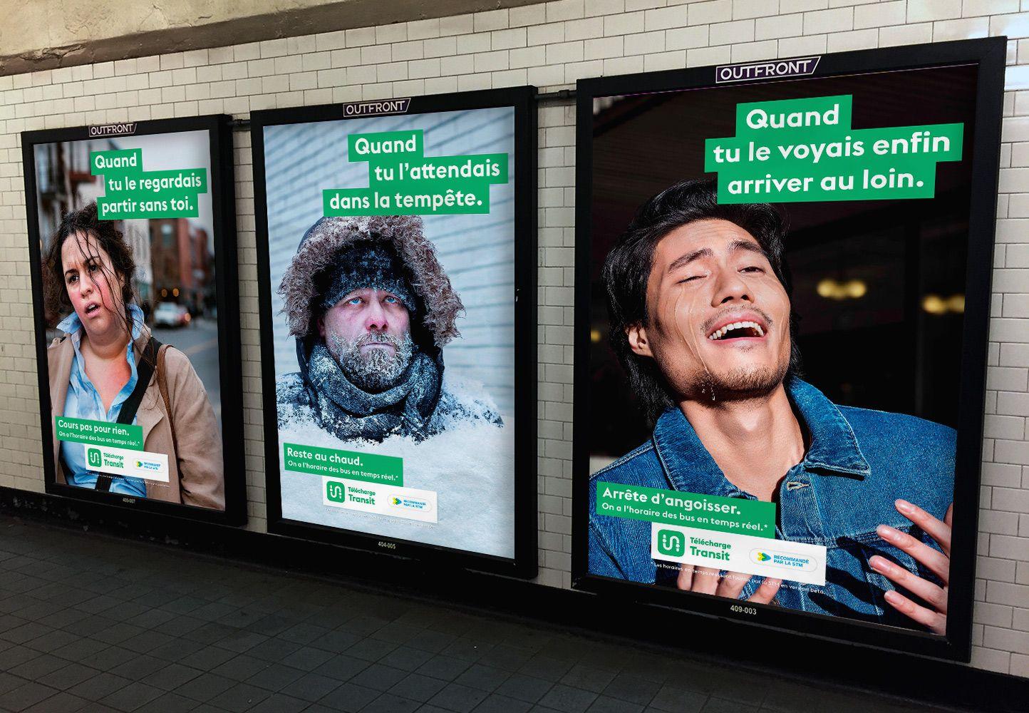 mockup of transit ad