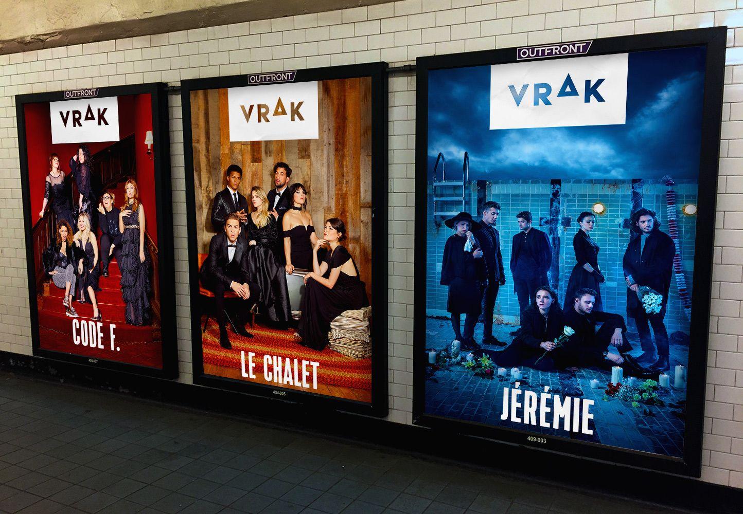 mockup of Vrak channel shows ad shot by Jocelyn Michel