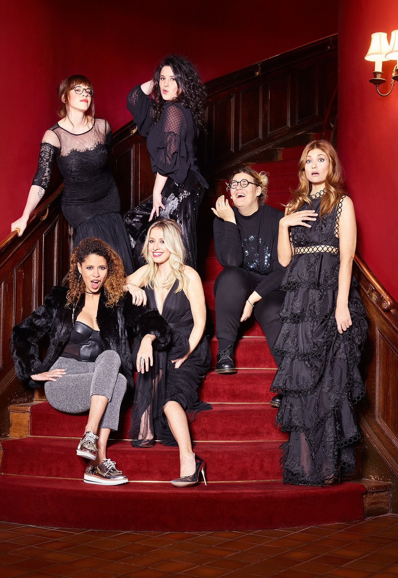 composition of famous quebecoises women for Vrak channel show Code F shot by Jocelyn Michel