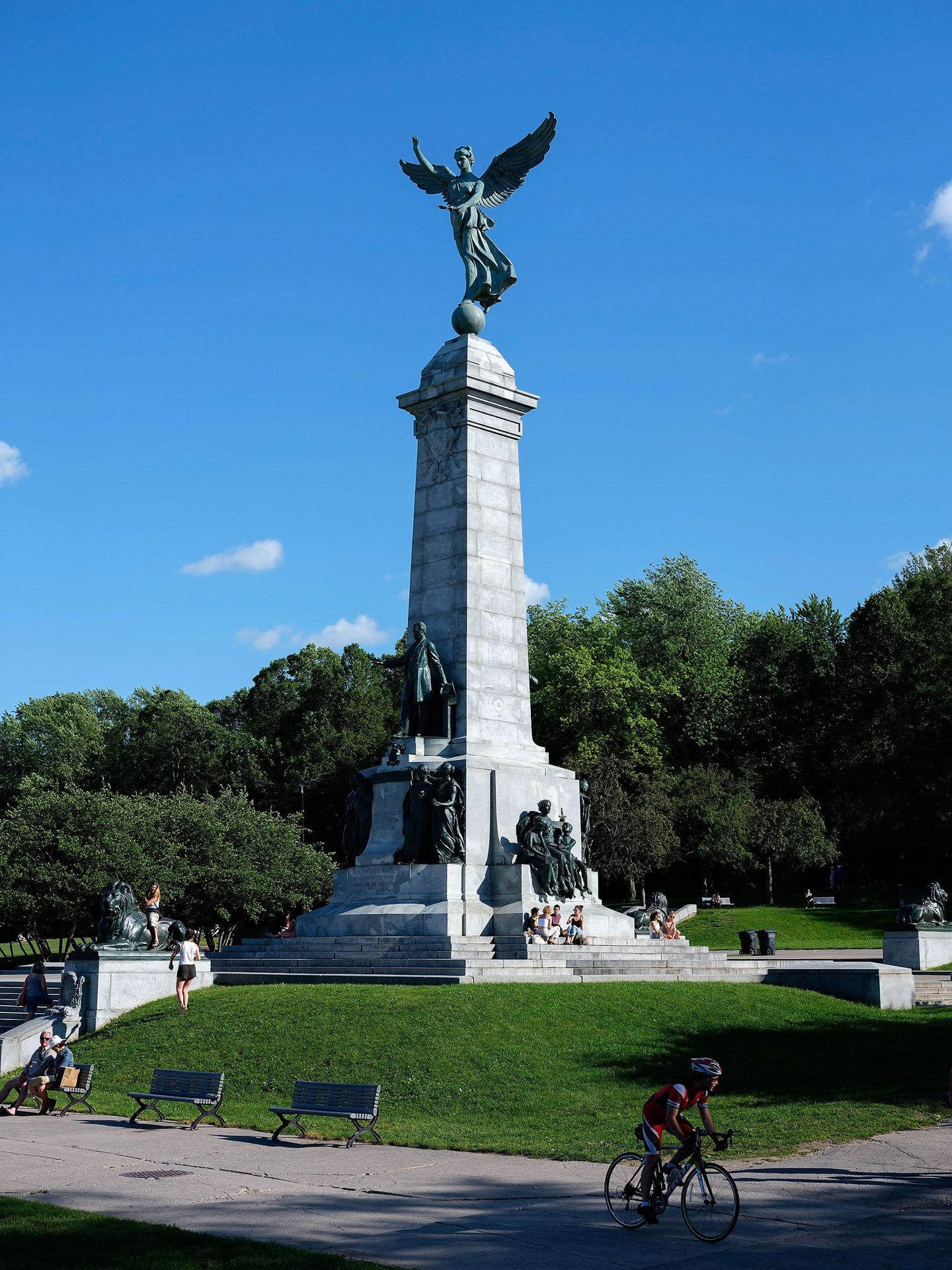Mount-Royal monument in the sun photographed by Guillaume Simoneau as part of Off Duty Montreal series for The Wall Street Journal magazine