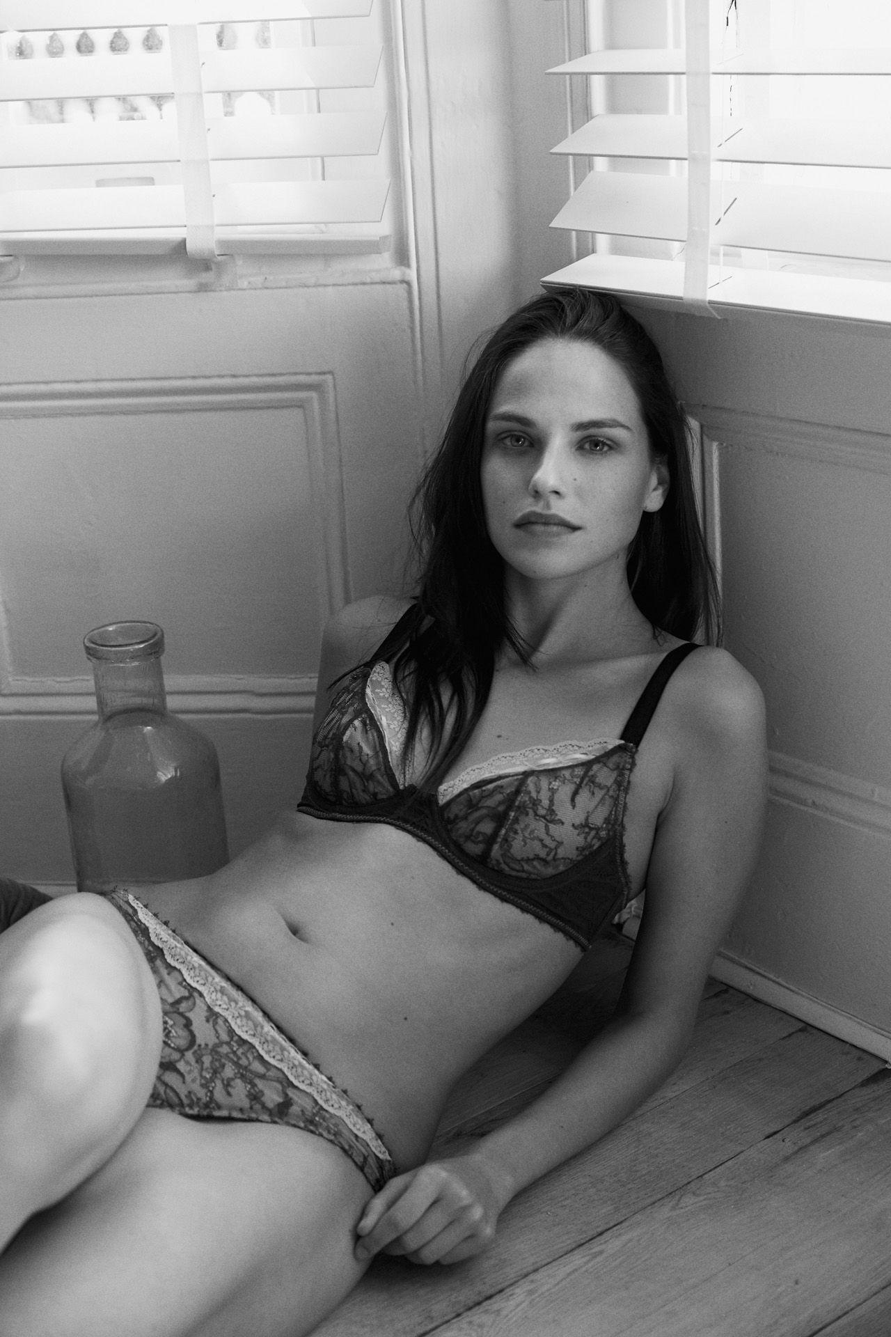 model Kat wearing Iris London lingerie by Maxyme G Delisle