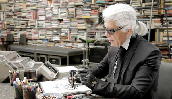 extract from documentary Karl Lagerfeld draws himself by Loic Prigent