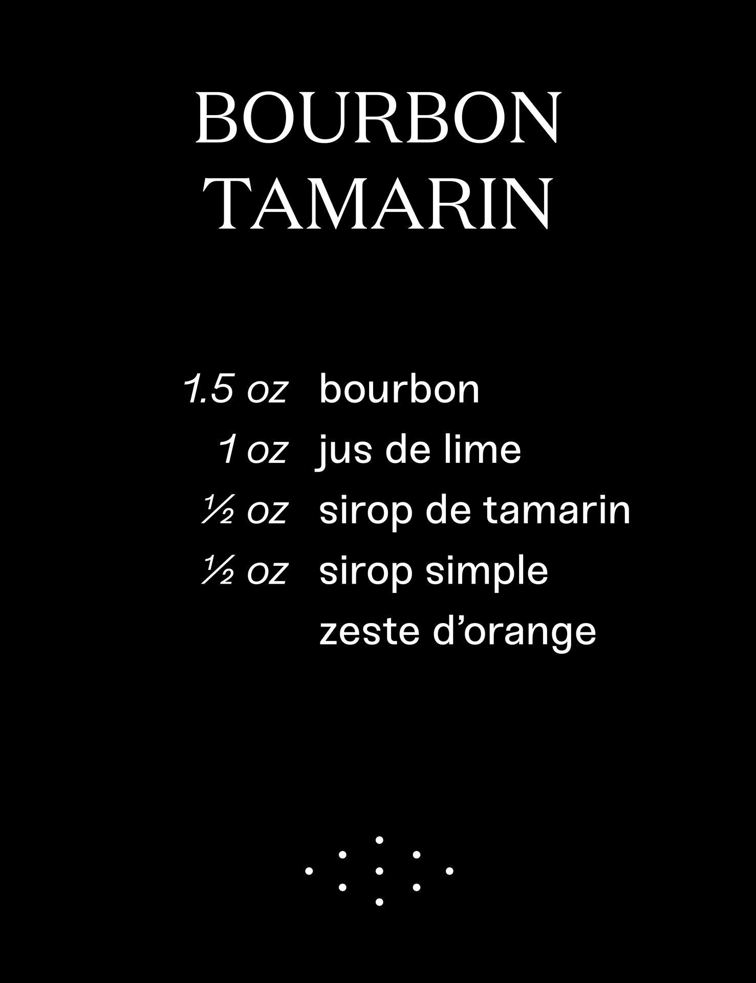 Bourbon Tamarin cocktail recipe