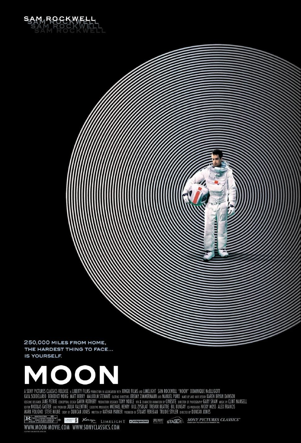 poster for Sam Rockwell movie Moon