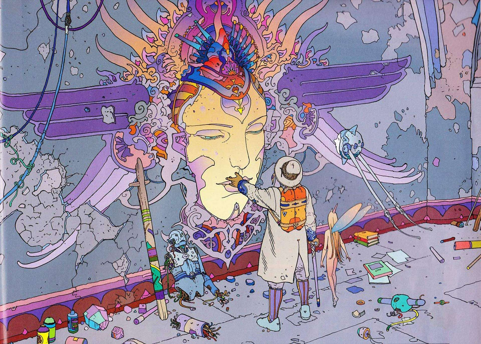 writer and illustrator Moebius aka Jean Giraud's The world of Edena