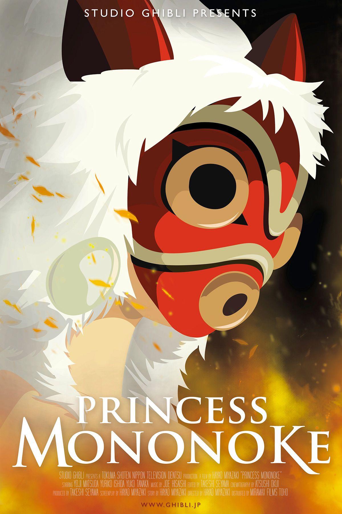Hayao Miyazaki's Princess Mononoke movie poster